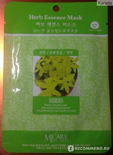 Тканевая маска для лица MJ Care Mijin Essence mask Herb (Лечебные травы) фото