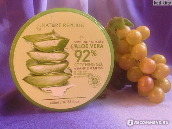 Увлажняющий гель Nature Republic Aloe Vera 92% Soothing Gel / Алоэ Вера 92% фото
