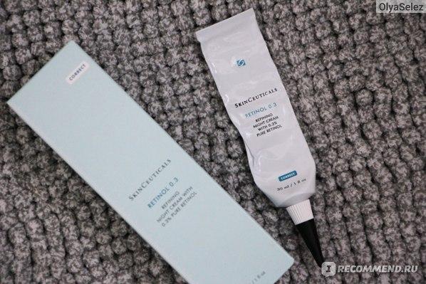 Крем для лица ночной SkinCeuticals Retinol 0.3 refining night cream фото