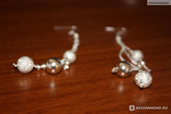 Серьги Aliexpress Silver Plated Drop Earring Fashion Brush Finish Ball Jewelry фото