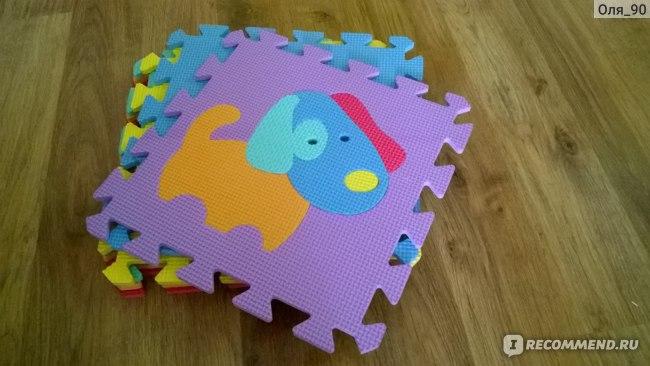 PLAY THE GAME Мягкий развивающий пазл-коврик (Fix price) фото