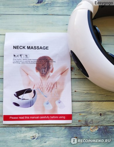 Массажер для шеи YOSYO Electric Pulse Back and Neck Massager Far Infrared Heating Pain Relief Tool Health Care Relaxation фото