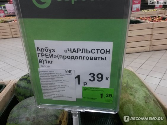 """Ягода Арбуз  """"Чарльстон Грэй"""" ИП Степанян фото"""
