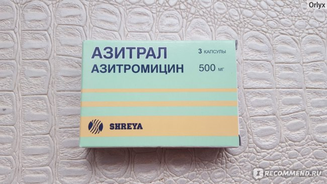 Антибиотик SHREYA Азитрал фото