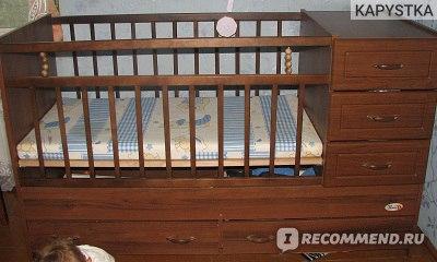 Детская мебель Рант Детская кроватка  трансформер с тумбой для детей от 0 до 10 лет фото