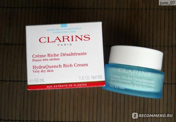 Крем для лица Clarins HydraQuench Rich Cream (увлажняющий/питательный крем восстанавливающий природный гидробаланс кожи) фото