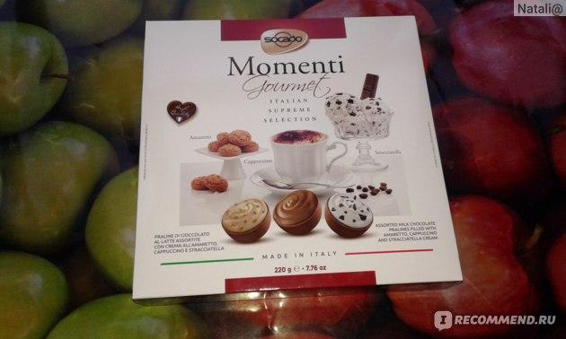 Конфеты Socado Momenti Gourmet Italian Supreme Selection acopti  фото