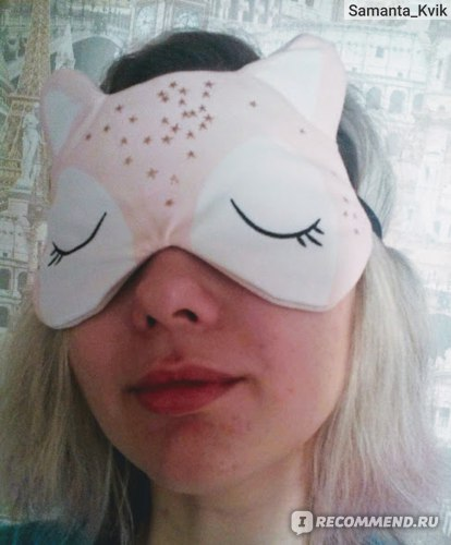 Маска для сна Sephora Winter Wonderland Fox sleep mask фото