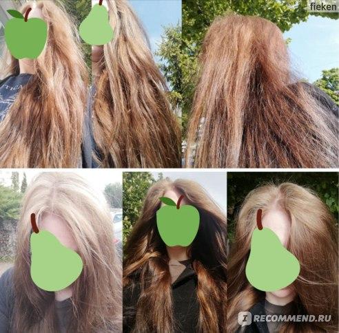 Волосы с разными уходовыми средствами