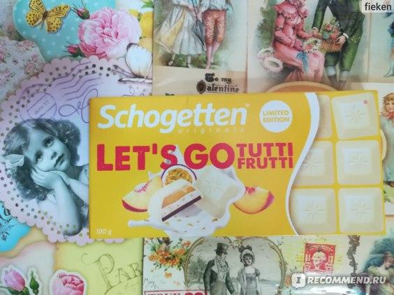 Белый шоколад Schogetten  Let' s GO Tutti Frutti фото