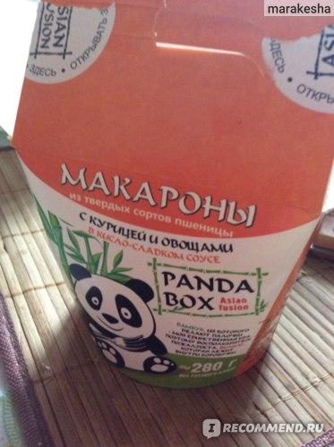 Лапша быстрого приготовления Panda Box с говядиной и овощами фото
