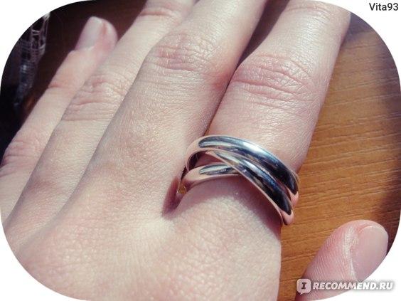 Кольцо Aliexpress New Beautiful Fashion silver plated ring Three Circles Free Shipping фото