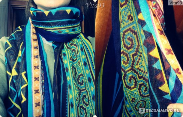 Шарф Tinydeal Casual Voile Striped Geometric National style Women's Scarves DSC-283659  фото