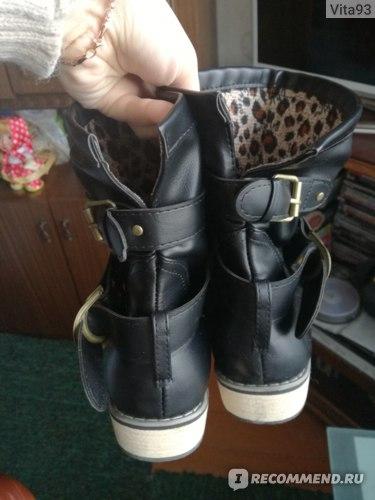 Полусапоги женские Aliexpress Brand artificial leather motorbikes biker shoes for women  фото