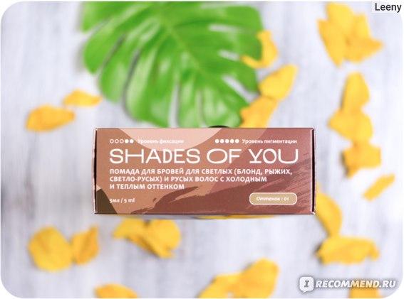 Помада для бровей Shades Of You Для светлых (блонд, рыжих, светло-русых) и русых волос с холодным и теплым оттенком