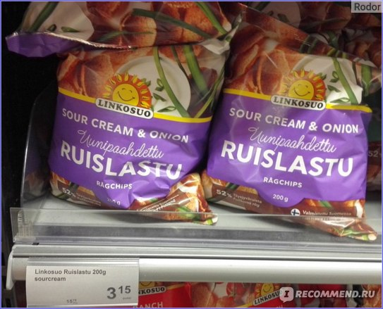 Ruislastu Sour Cream & Onion