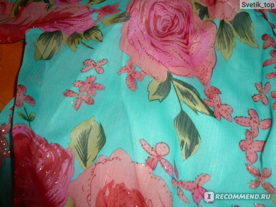 Блуза AliExpress New fashion rose print loose chiffon tops t shirt of women фото