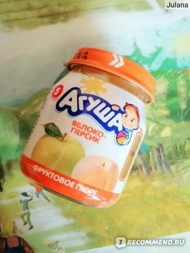Фруктовое пюре Агуша Яблоко-персик фото