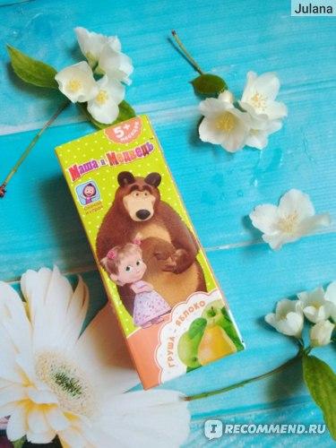 Нектар Южная соковая компания Маша и медведь Яблоко-груша  фото