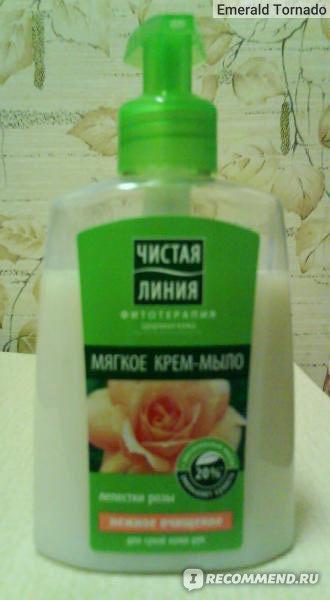 """Жидкое крем-мыло Чистая линия """"Лепестки розы"""" фото"""