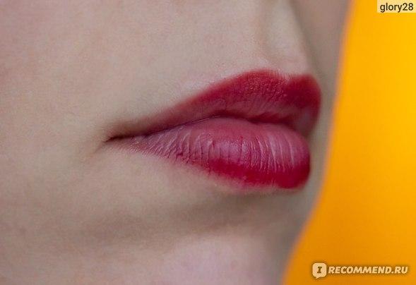 Dior Addict Lip Tattoo 771 Natural Berry: остатки тинта после обеда
