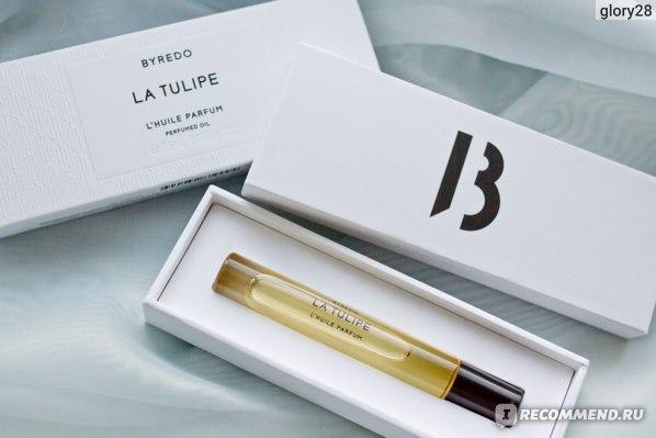 Упаковка и флакон парфюмированного масла Byredo La Tulipe