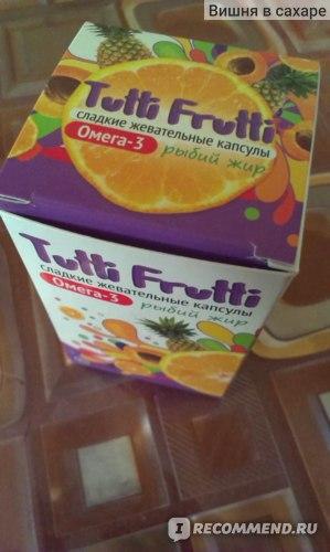 Детский рыбий жир Омега Фарма Tutti Frutti (Сладкие жевательные капсулы) фото