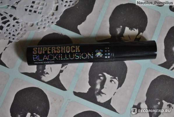 Тушь для ресниц Avon True SUPERSHOCK BLACKILLUSION