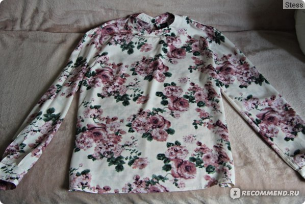 Блузка AliExpress Women vintage floral blouses long sleeve фото