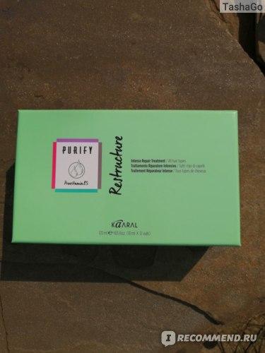 Ампулы для волос Kaaral Purify Restructure - Восстанавливающий лосьон