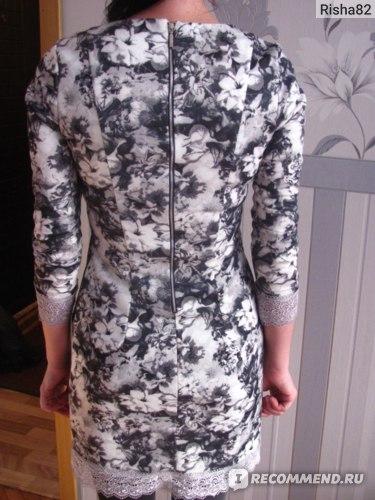 Платье AliExpress Fashion Ladies' Vintage Floral print dress O neck long sleeve dress back Zipper фото