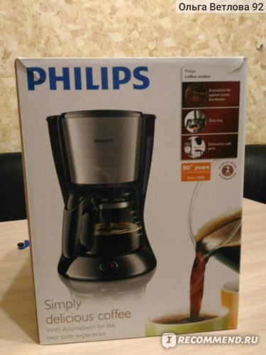 Кофеварка капельная Philips HD7434/20  фото