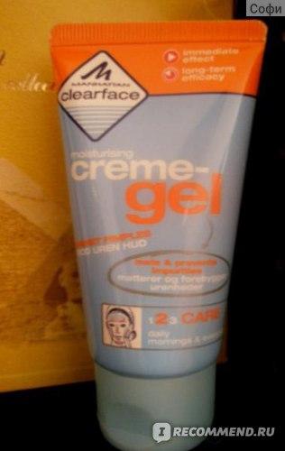 Крем-гель для лица Manhattan ClearFace Увлажняющий фото