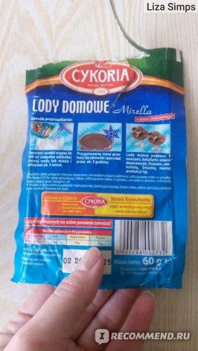 Смесь для приготовления мороженного CYKORIA S.A. lody domowe фото