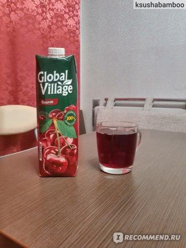 Сок Global Village Premium Вишня фото