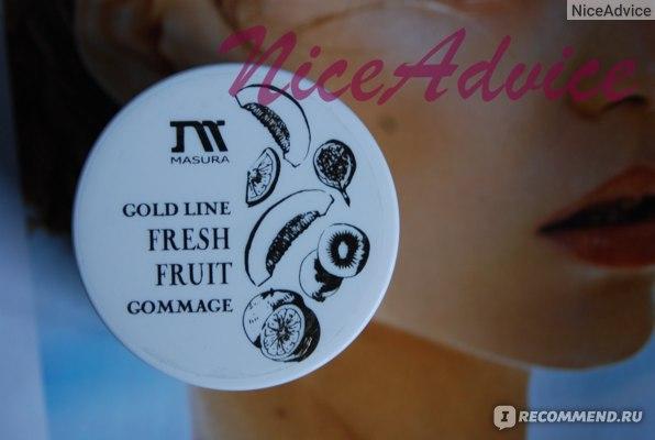 Гоммаж для рук Masura с фруктовыми кислотами и косточками маракуйи фото