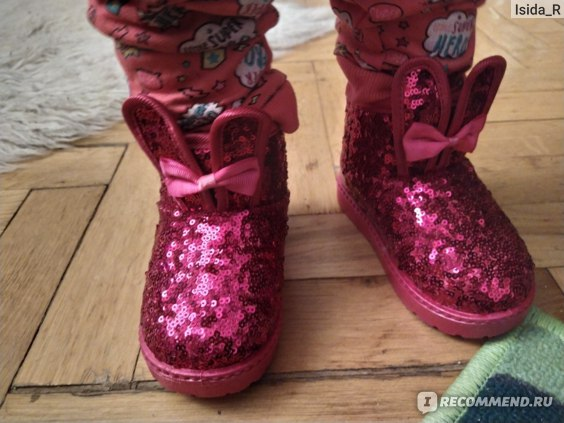 Угги Aliexpress Winter 2019 Children Boots Girls Sequins Cotton Baby Warm Shoes Student Girl Snow Boots Cotton Princess Boots Kids Sneakers фото