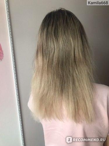 Волосы вымытые только шампунем