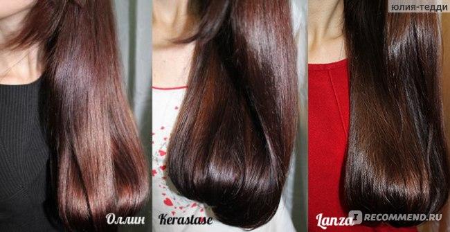 Салонные процедуры для волос. Оллин - спа мегаполис с ультразвуковым утюжком, Керастаз  Densifique , Ланза - кератиновое протезирование.