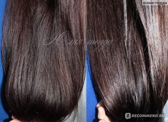 На фото 1- волосы после бальзама- забрал блеск, было чувство липоксти на влажных волосах, вообщем- перепитала волосы. На фото2- волосы после шампуня глубокой очистки и бальзама- в таком же!- большом колве (ну не сразу я поняла, что нельзя им полностью обмазываться)))