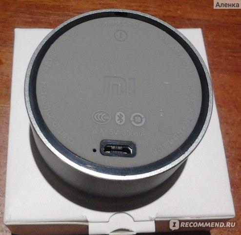 Портативная колонка Xiaomi Mi Portable Round Box фото