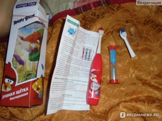 Зубная щетка Rovio Вибрационная Longa vita for kids. Angry Birds Арт.№SGA-1 фото