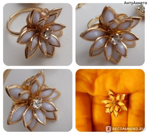 Кольцо Aliexpress Fresh xuelian flowers ring фото