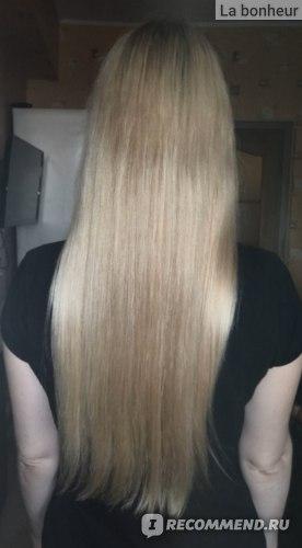 Волосы после применения восстанавливающей маски для сухих и поврежденных волос Lador Hydro LPP Treatment Professional Salon Hair Care