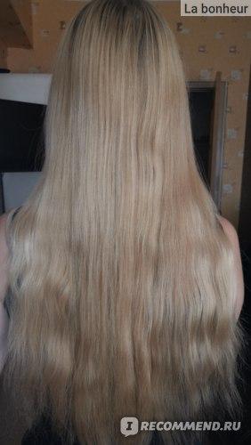 Волосы до применения восстанавливающей маски для сухих и поврежденных волос Lador Hydro LPP Treatment Professional Salon Hair Care