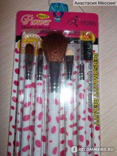 Кисти для макияжа Yiqing Beauty Flower Mekeup brush Personality  фото