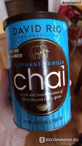 Чай-латте David Rio Elephant Vanilla фото