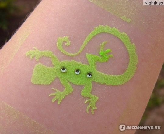 Пигмент Glitter Tattoo Светящийся в ультрафиолете и темноте фото