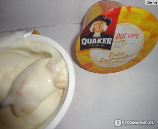 """Кисломолочные продукты Quaker Йогурт """"Pure Premium"""" Манго, 2,5%, 180г фото"""