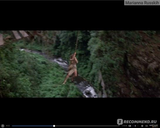 обложка фильма, замечаете, что герои не вместе перелетают пропасть на лиане